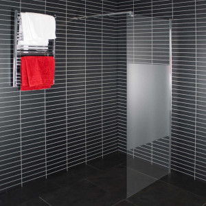 Euroshowers Duschwand Milchglas Satinato Walk-in